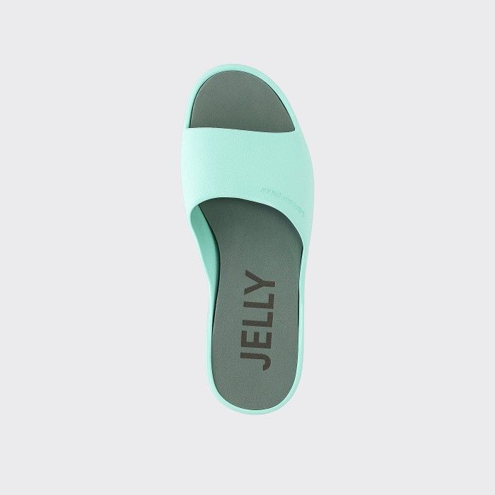 Lemon Jelly | Chinelos Femininos Verde-Água de Plataforma SUNNY 12