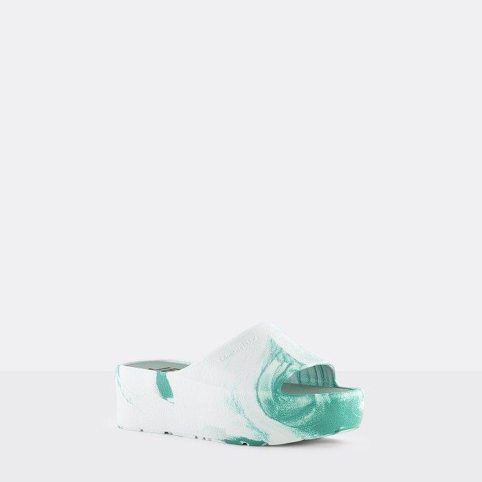 Lemon Jelly | Chinelos Femininos Brancos/Azuis Plataforma SUNNY 10