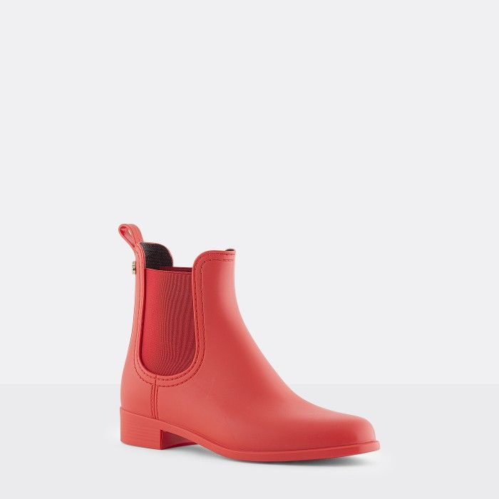 Lemon Jelly | Matte Red Chelsea Boots | Vegan Shoes SPLASH 17