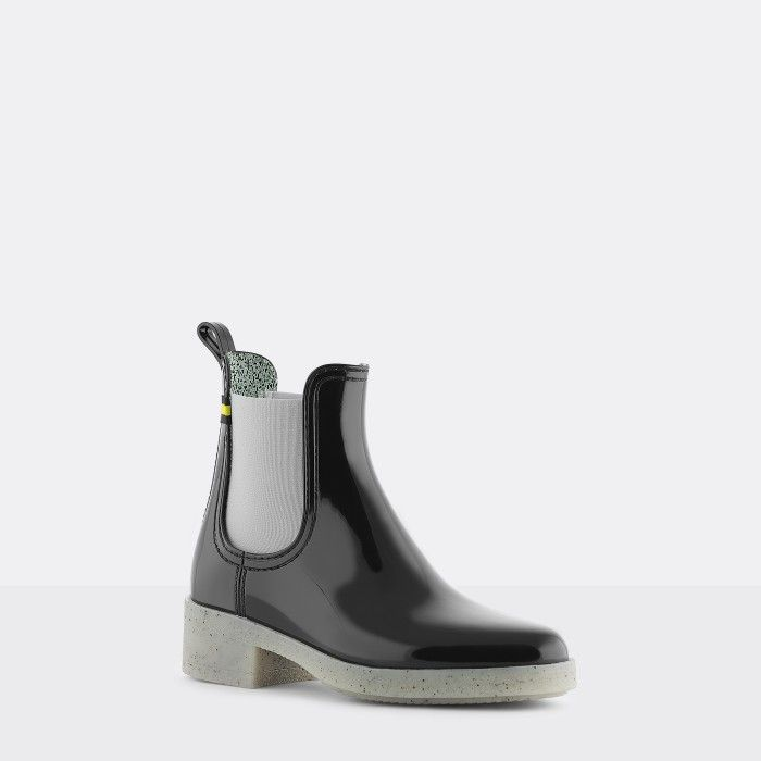 Lemon Jelly | Black Recycled Woman Ankle Boots with Heel LINDSEY 02