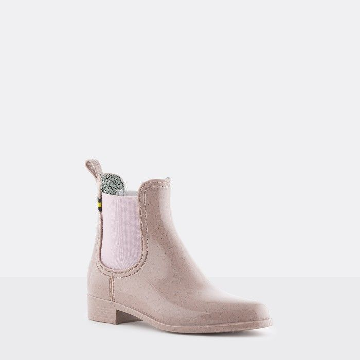 Lemon Jelly | Pink Recycled Boots Chelsea Style Women BRISA 02