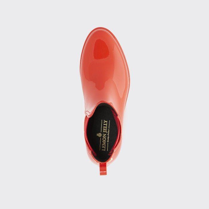 Lemon Jelly | Red Chelsea Boots | Vegan Shoes | Women COMFY 38
