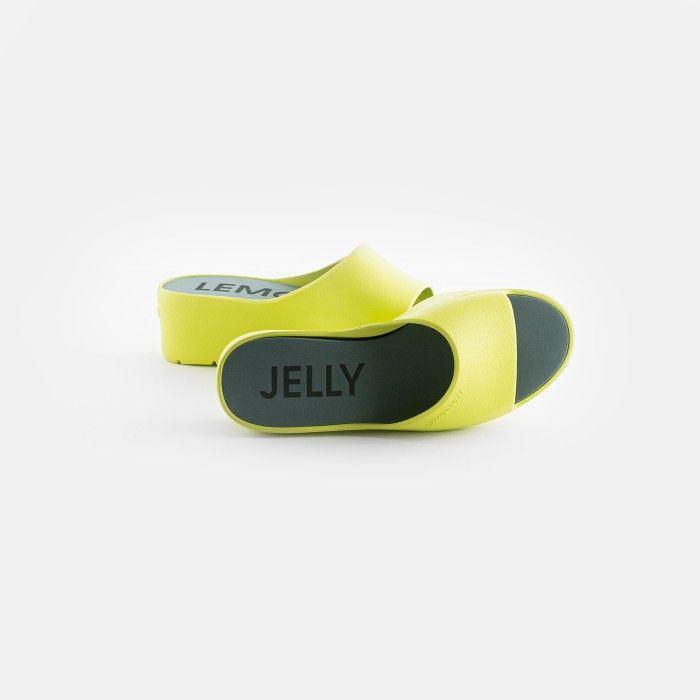 Lemon Jelly | Chinelos Femininos Amarelo Lima Plataforma SUNNY 13