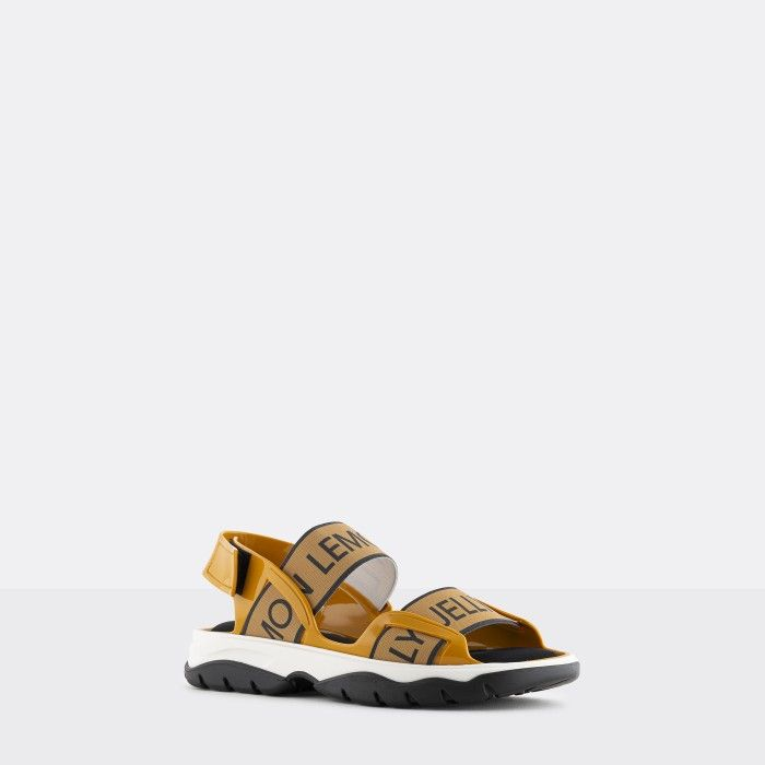 Lemon Jelly | Yellow Vegan and Sporty Sandals w/ Elastics BECKY 03