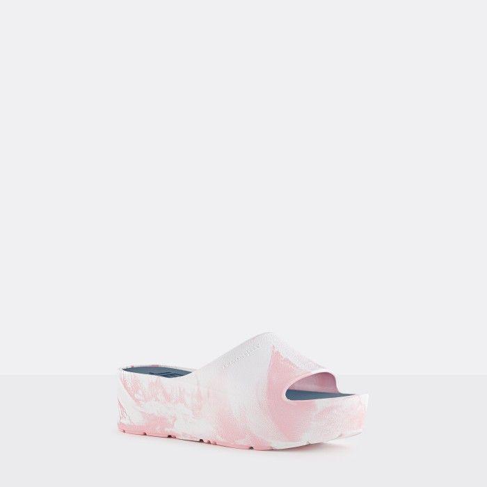 Lemon Jelly | Chinelos Femininos Branco/Rosa de Plataforma SUNNY 11