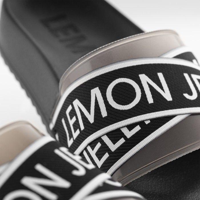 Lemon Jelly | Chinelos Femininos e Leves Pretos com Logo MAISIE 01