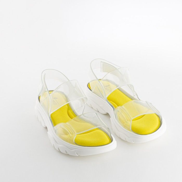 Lemon Jelly | Transparent Sporty & Vegan Sandals for Woman JUNO 02