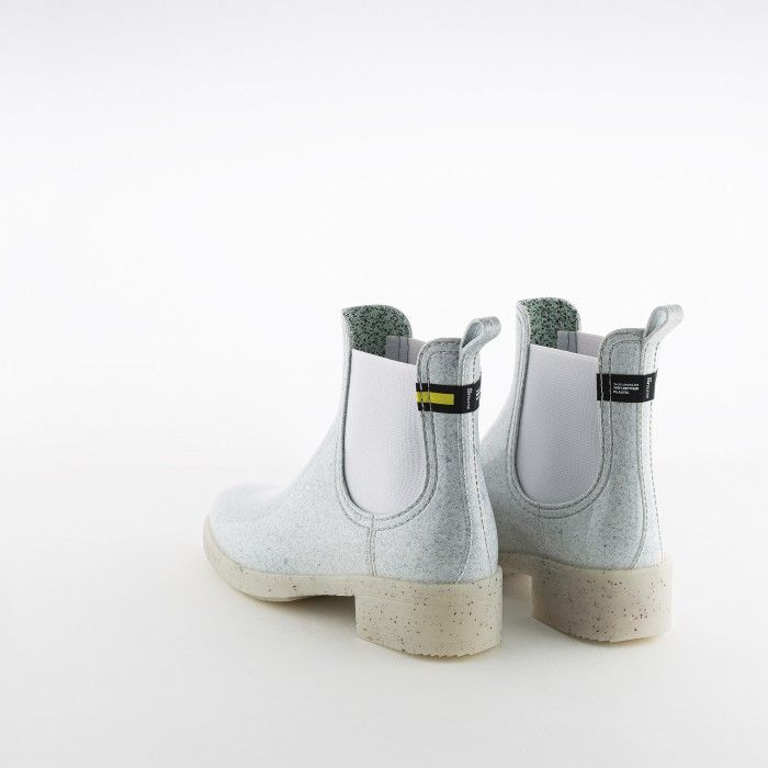 Lemon Jelly | White Recycled Woman Ankle Boots with Heel LINDSEY 01