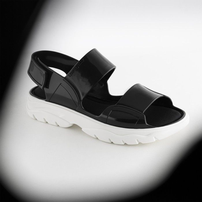 Lemon Jelly | Black Vegan Sandals with Sporty Woman Style JUNO 01