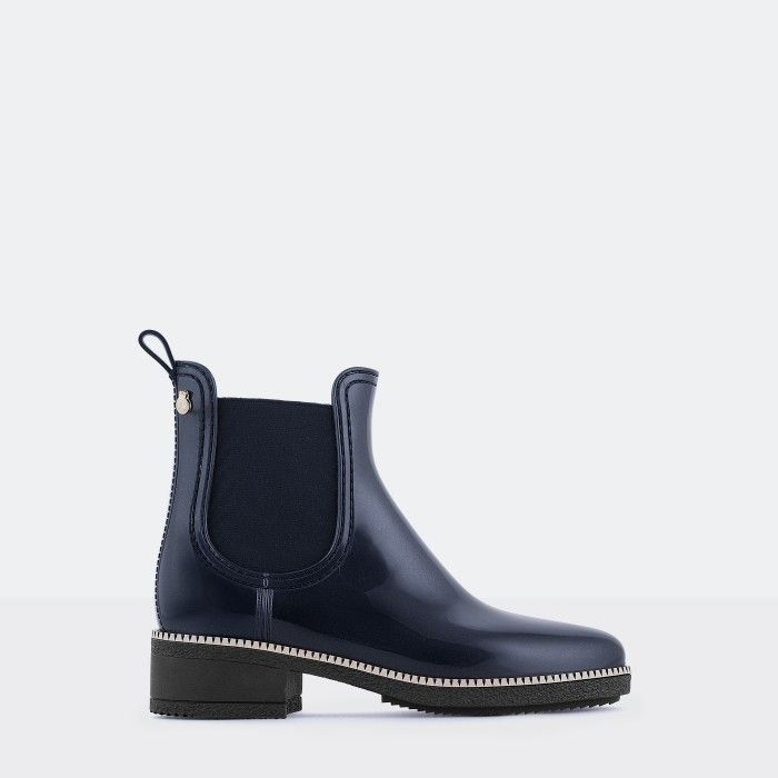 Lemon Jelly | Blue Heeled Ankle Boots  Jelly Shoes AVA 03