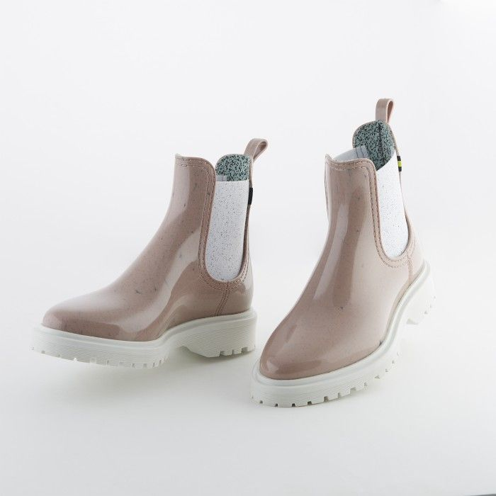 Lemon Jelly | Pink Recycled Boots w/ Male Sole | Women | MAREN 05