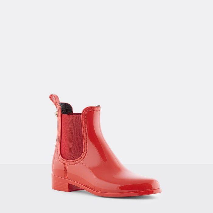 Lemon Jelly | Red Chelsea Boots | Vegan Shoes | Women COMFY 38