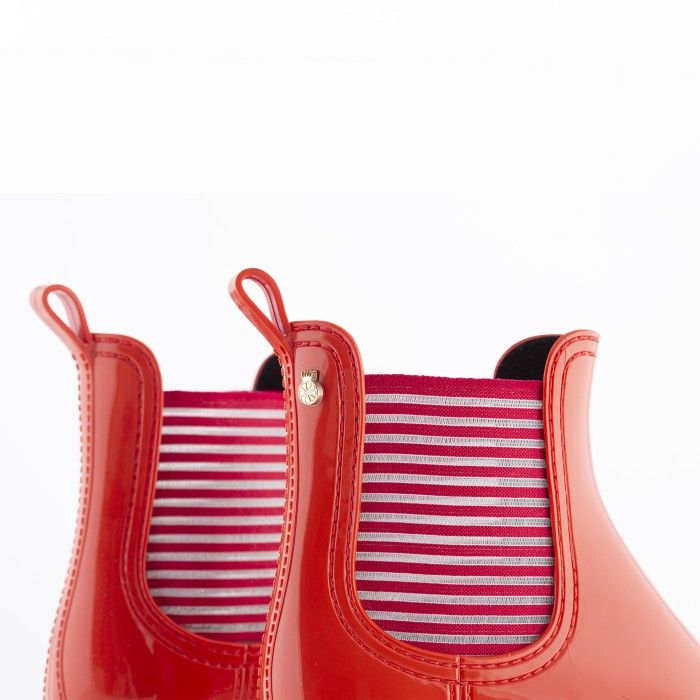 Lemon Jelly | Summer Red Low Boots for Women | Vegan ALEXIS 02