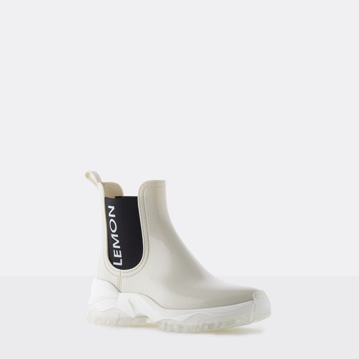 Lemon Jelly | White Sporty Low Boots for Women | Vegan JAYDEN 06