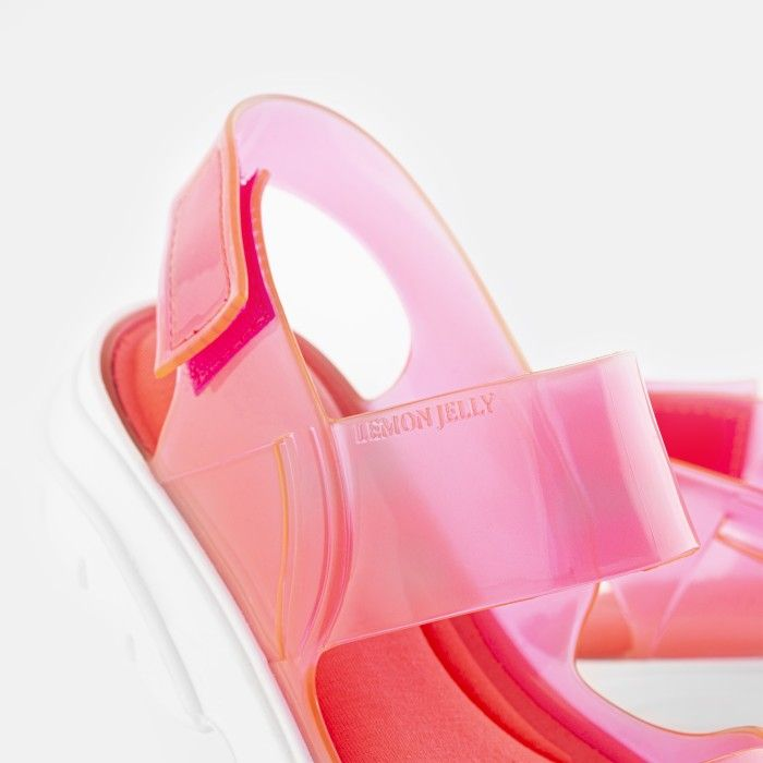 Lemon Jelly | Pink Vegan Sandals with Sporty Woman Style JUNO 04
