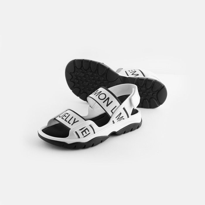 Lemon Jelly | White Vegan and Sporty Sandals with Elastics BECKY 02