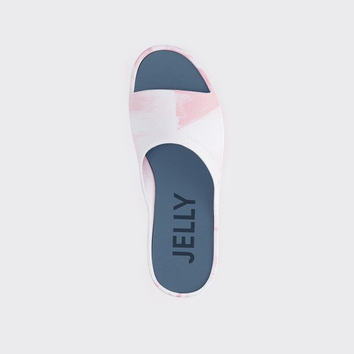 Lemon Jelly | Vegan Women White/Pink Platform Slides SUNNY 11
