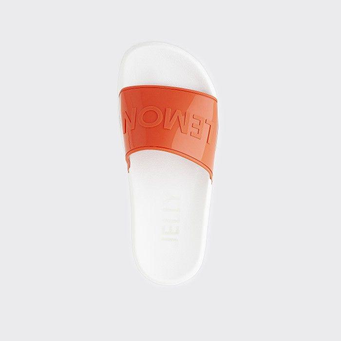 Lemon Jelly | Vegan Women Orange/White Slides OPAL 05
