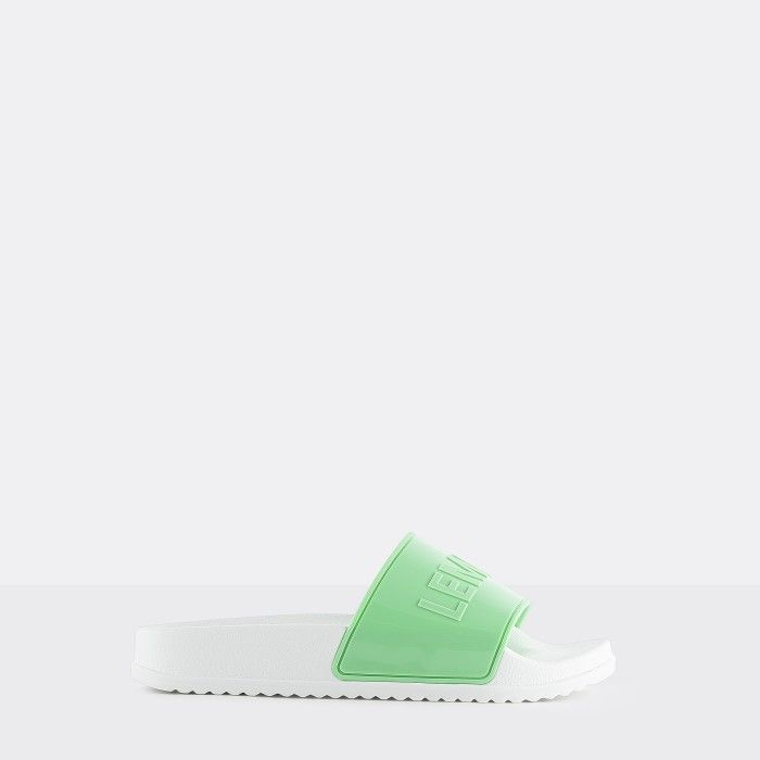 Lemon Jelly | Vegan Women Mint/White Slides OPAL 04