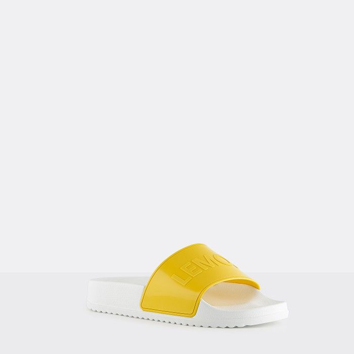 Lemon Jelly | Vegan Women Yellow/White Slides OPAL 03