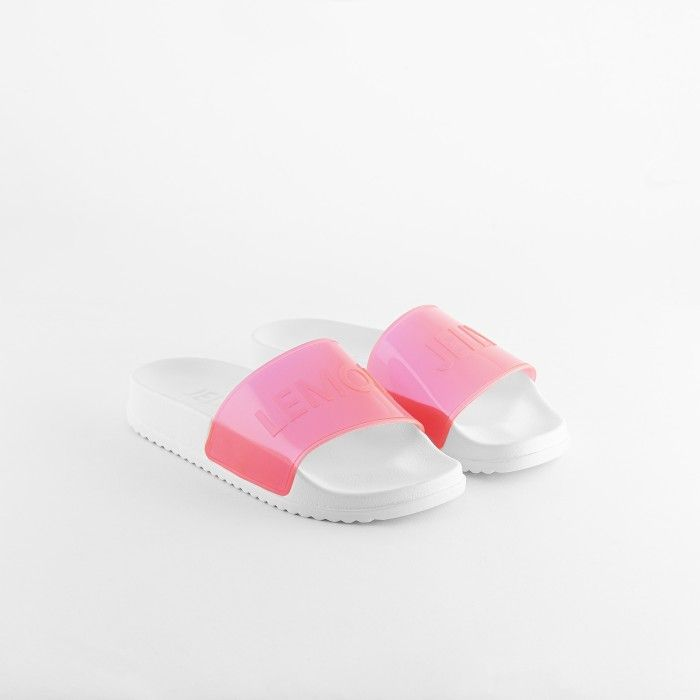 Lemon Jelly | Chinelos Femininos Vegan Rosa Translúcidos OPAL 02