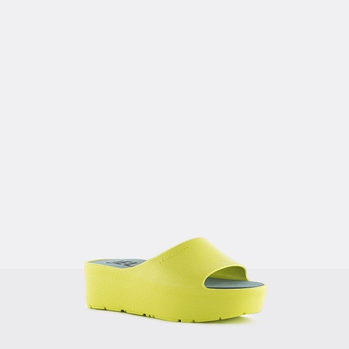 Lemon Jelly | Vegan Women Lime Platform Slides SUNNY 13