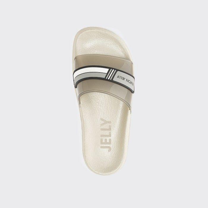 Lemon Jelly | Vegan Women Beige/Brown Slides with Logo WAVE 02