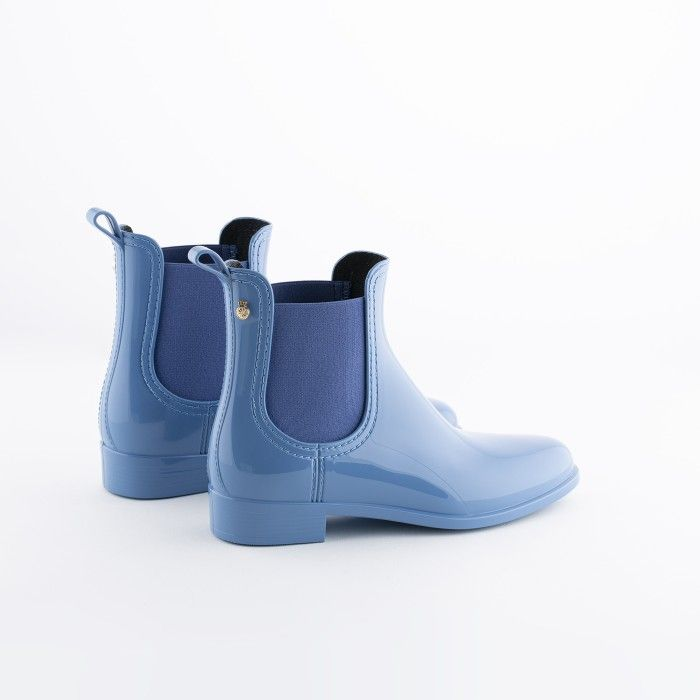 Lemon Jelly | Blue Chelsea Boots | Vegan Shoes | Women COMFY 40