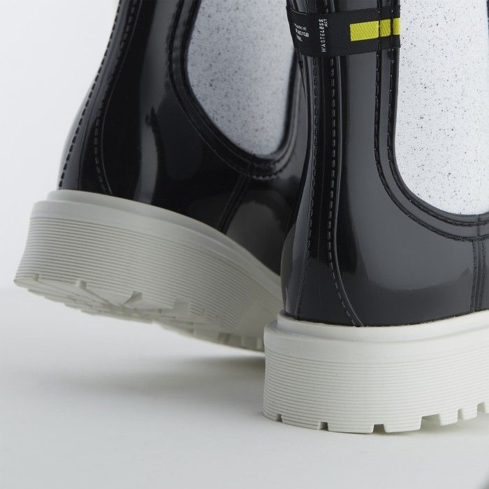 Lemon Jelly | Black Recycled Boots w/ Male Sole | Women | MAREN 04