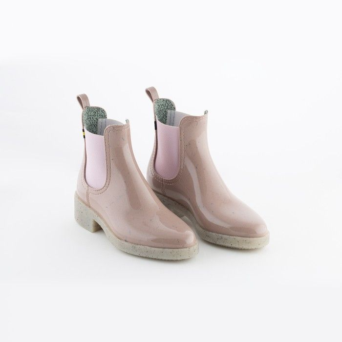 Lemon Jelly | Pink Recycled Woman Ankle Boots w/ Heel LINDSEY 03