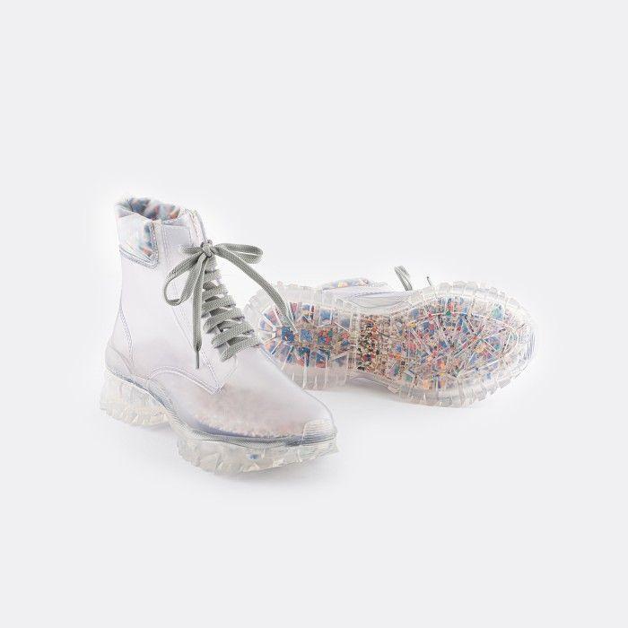 Lemon Jelly Vegan & Eco-Friendly Transparent Low Boots RENNE 01