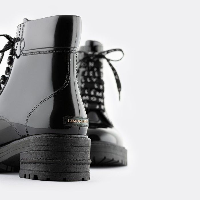 Lemon Jelly | Botas Militares Cano Curto Pretas Vegan CAILYN 06
