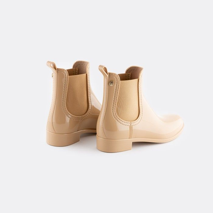 Lemon Jelly | Botins de Chuva Femininos Beges Vegan COMFY 44