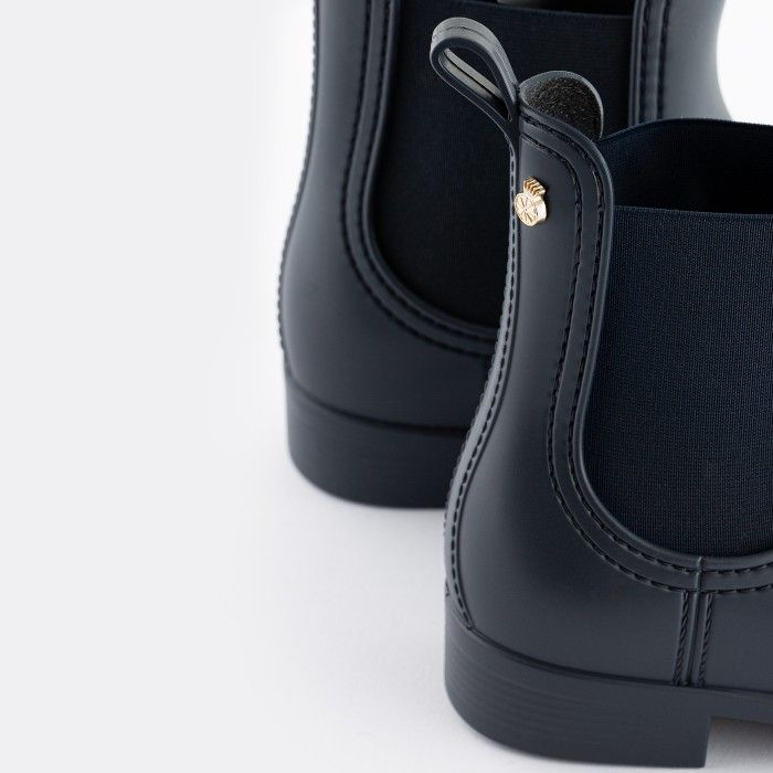 Lemon Jelly Woman | Vegan Blue Rain Ankle Boots SPLASH 18