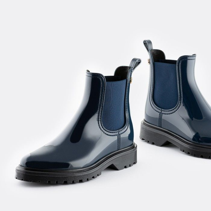 Lemon Jelly Women's Vegan Blue Ankle Boots BLOCK 17