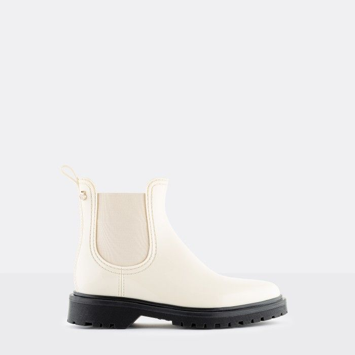 Lemon Jelly Women's Vegan Beige Ankle Boots BLOCK 19