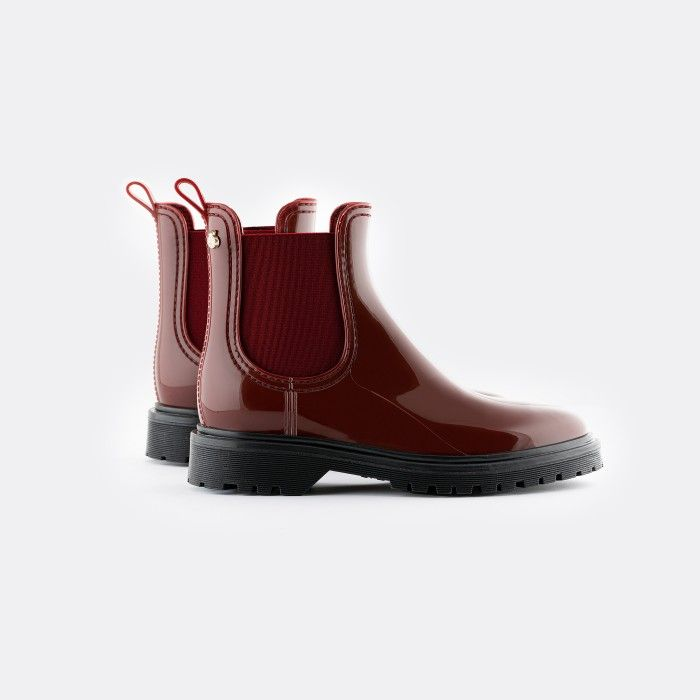 Lemon Jelly Women's Vegan Bordeaux Ankle Boots BLOCK 20