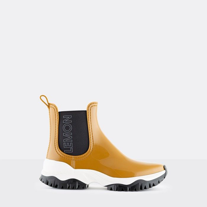 Lemon Jelly Women's Vegan Sporty Yellow Ankle Boots JAYDEN 11