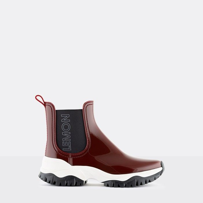 Lemon Jelly Women's Vegan Sporty Bordeaux Ankle Boots JAYDEN 14