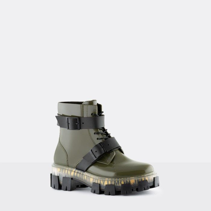Lemon Jelly Women's Urban Vegan Military Green Low Boots ZELMA 03