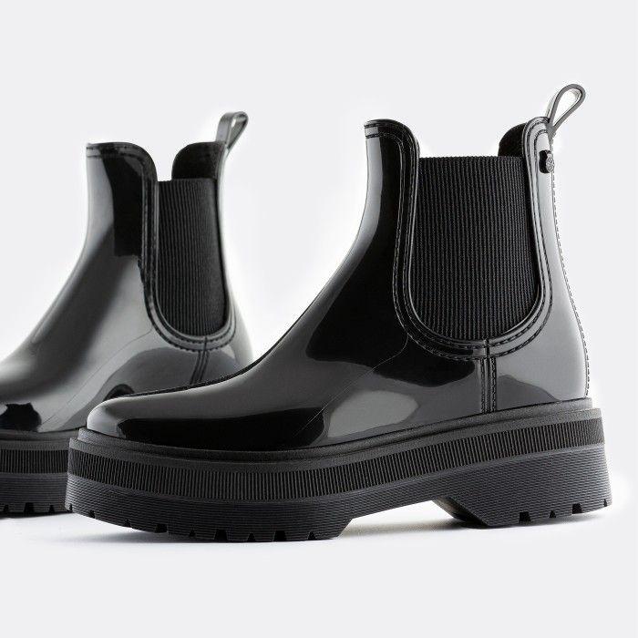 Lemon Jelly Women's Vegan Black Low Boots with Platform NETTY 05