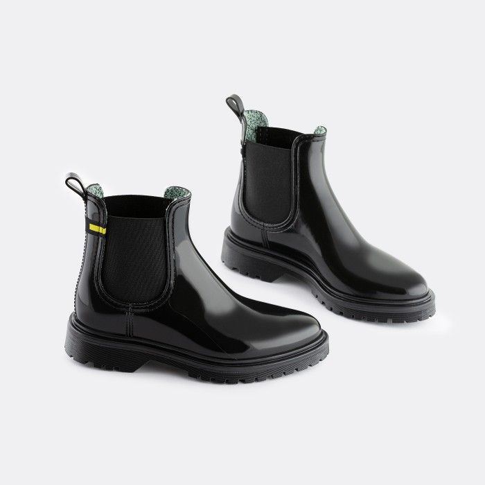 Lemon Jelly Women's Vegan Recycled Black Ankle Boots MAREN 08