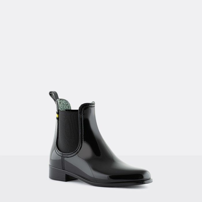 Lemon Jelly Vegan Recycled Black Ankle Boots BRISA 08