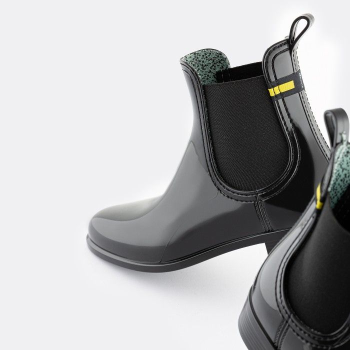 Lemon Jelly | Botins Reciclados Femininos Pretos Vegan BRISA 08