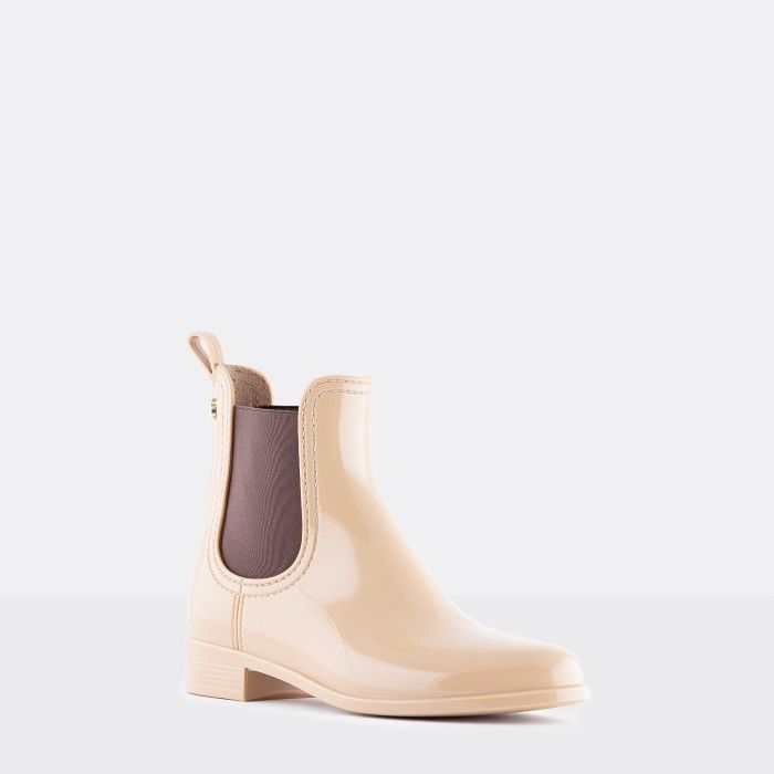Lemon Jelly Woman | Vegan Beige Rain Ankle Boots PISA 39