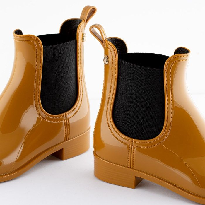 Lemon Jelly Woman | Vegan Yellow Rain Ankle Boots PISA 38
