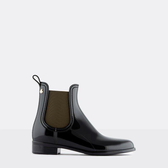 Lemon Jelly Woman | Vegan Black Rain Ankle Boots PISA 37