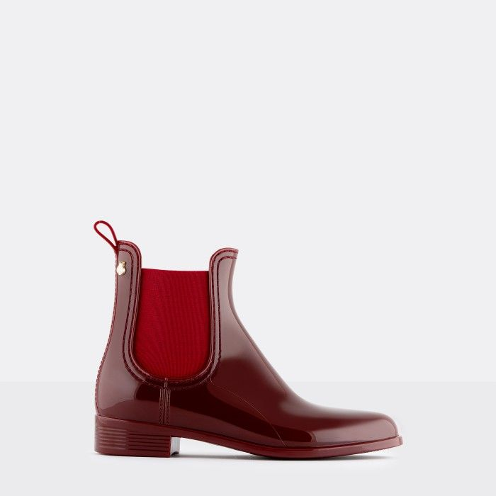 Lemon Jelly Woman | Vegan Bordeaux Rain Ankle Boots COMFY 43