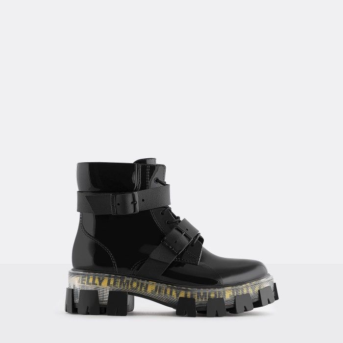 Lemon Jelly Women's Urban Vegan Black Low Boots ZELMA 01