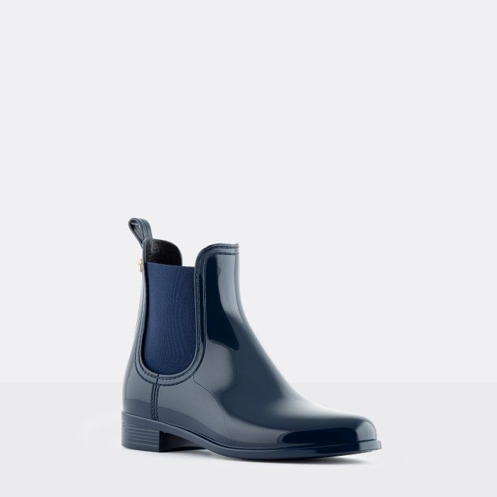 Lemon Jelly Woman | Vegan Blue Rain Ankle Boots COMFY 41